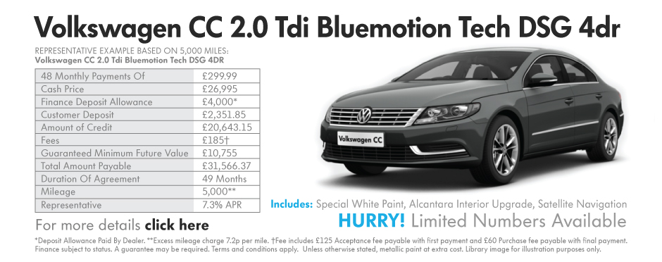 Volkswagen CC 2.0 Tdi Bluemotion Tech DSG 4Dr