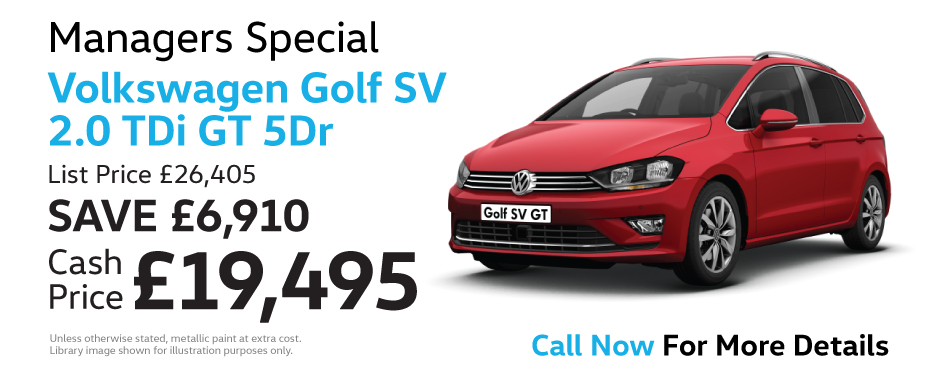 Volkswagen Golf SV 2.0 TDi GT 5Dr - Managers Special