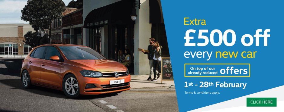 �500 Off New Car February 2018 - Volkswagen