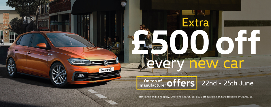 �500 Off New Car June 2018 - Volkswagen