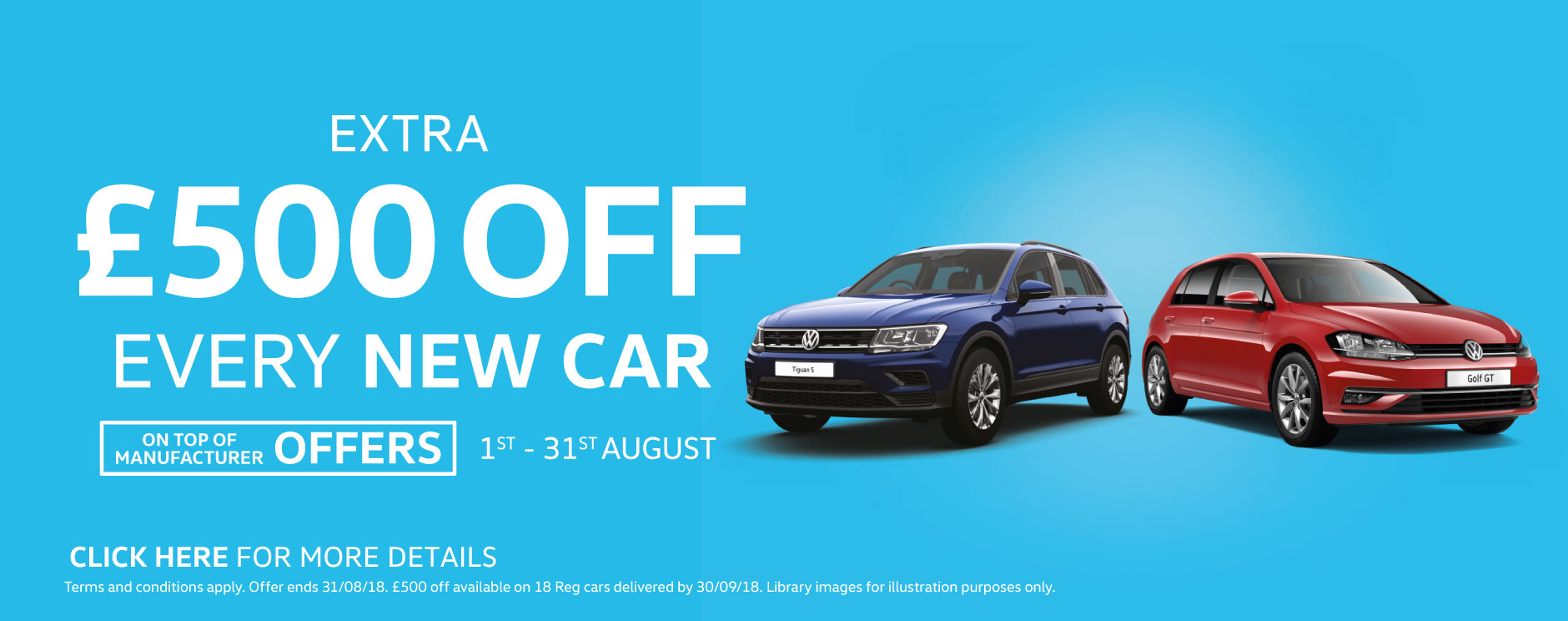 �500 Off New Car August 2018 - Volkswagen