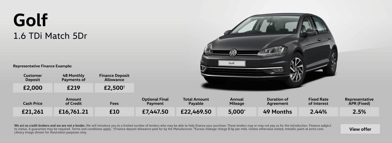 New Volkswagen Golf 1 6 TDI Match 5dr Diesel Hatchback for Sale