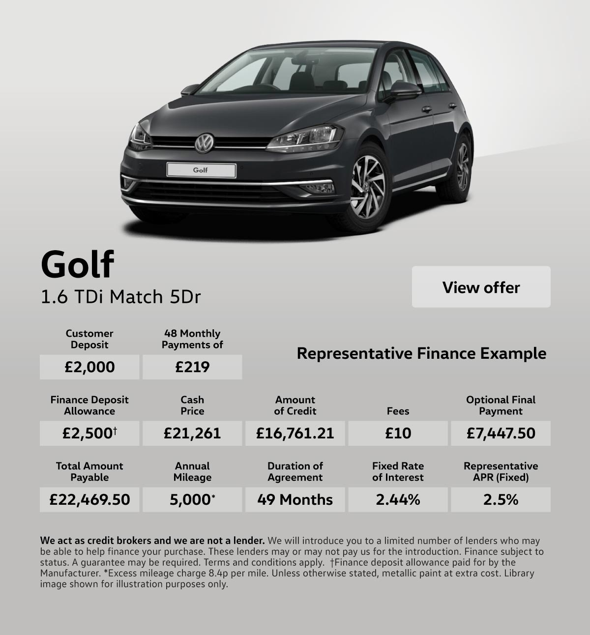 [Volkswagen Golf] Volkswagen Golf 1.6 Match 100419 Banner 1