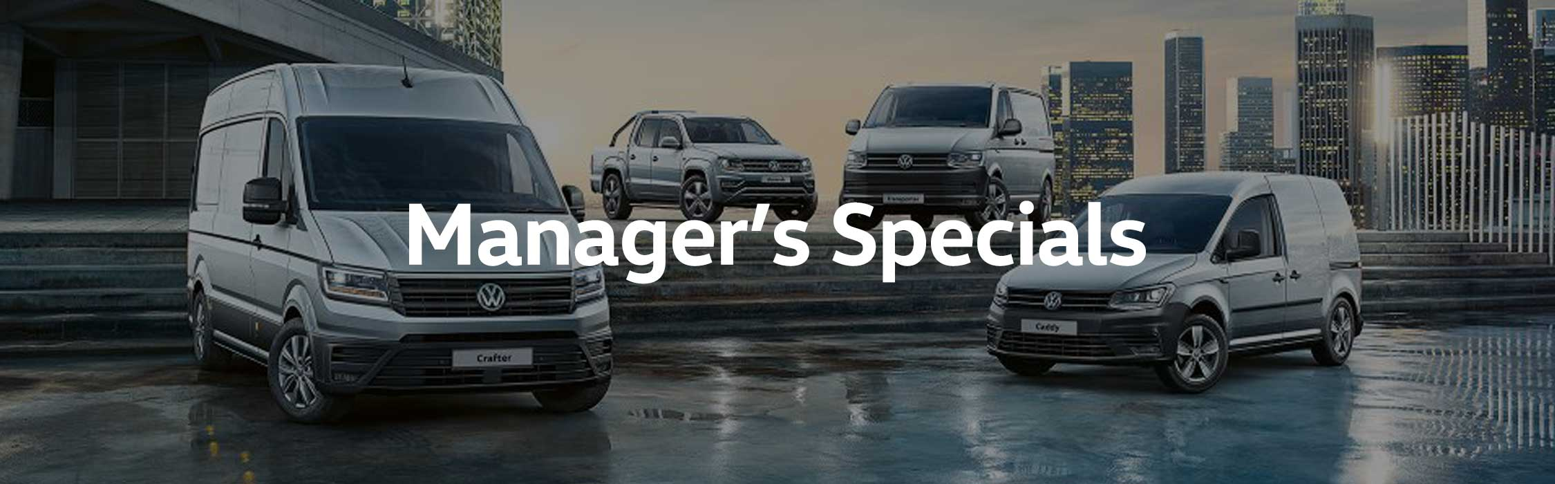 Volkwagen Manager's Specials Commercial Vans