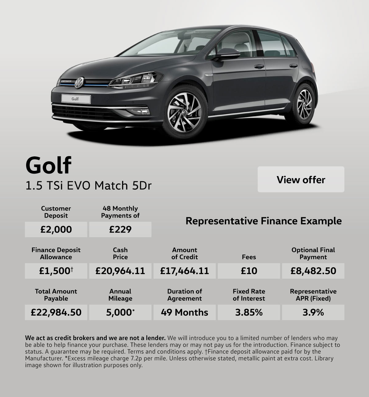 [Volkswagen Golf] Volkswagen Golf 1.5 Match 110619 Banner 1