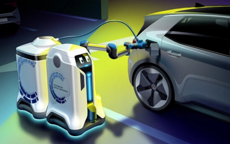 Volkswagen Reveal Car Park Robots - Bringing An EV Charger To You